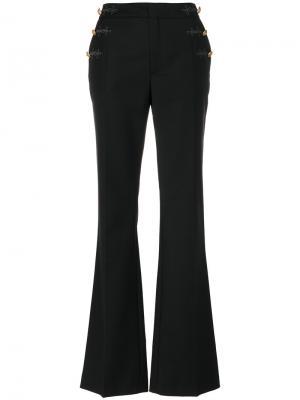 Расклешенные брюки с пуговицами сбоку Just Cavalli. Цвет: чёрный