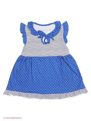 Платье Апрель. Цвет: синий, серый, белый