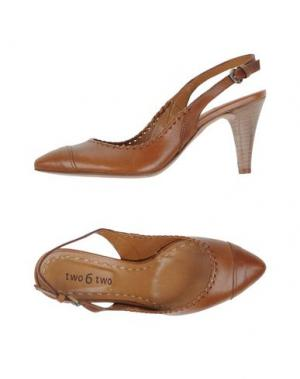 Туфли TWO 6 SHOES. Цвет: коричневый