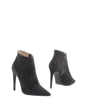 Полусапоги и высокие ботинки PREZIOSO. Цвет: стальной серый