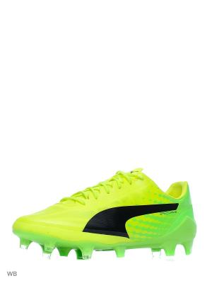 Бутсы evoSPEED 17 SL FG Puma. Цвет: желтый, зеленый