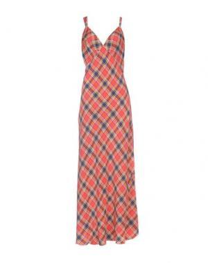 Длинное платье MARC JACOBS. Цвет: красный