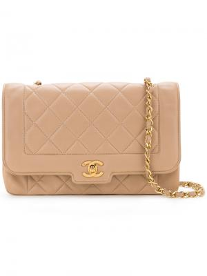 Edged quilted bag Chanel Vintage. Цвет: коричневый