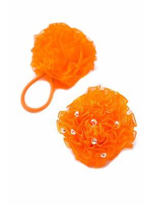 Резинка-сфера со стразами оранжевая 2 шт. детская JD.ZARZIS. Цвет: оранжевый