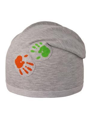 Шапка Elo-Melo. Цвет: серый меланж, зеленый, оранжевый