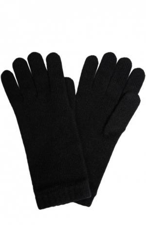 Вязаные перчатки из кашемира Johnstons Of Elgin. Цвет: черный