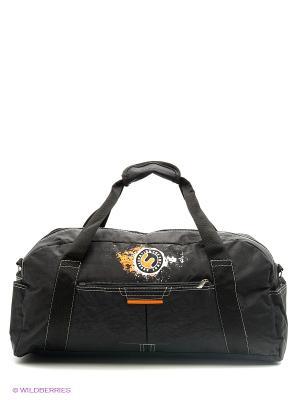 Спортивная сумка UNION. Цвет: черный