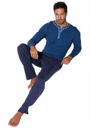 Пижама Arizona. Цвет: синий в полоску/темно-синий