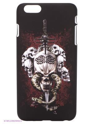 Чехол для iPhone 6 plus WB. Цвет: темно-коричневый, белый
