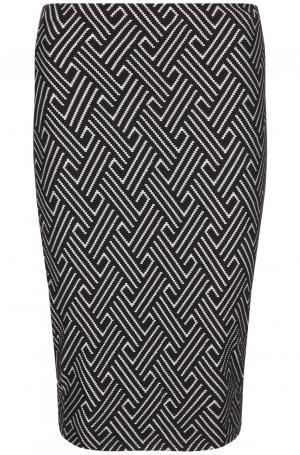 Трикотажная юбка с геометрическим узором Mix ray
