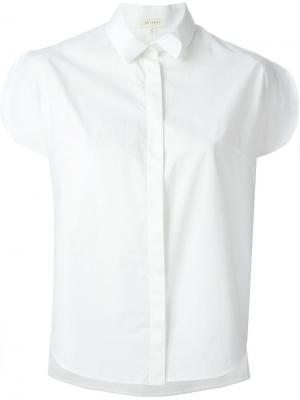 Рубашка с короткими рукавами Delpozo. Цвет: белый