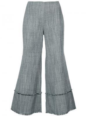 Расклешенные брюки строгого кроя Zimmermann. Цвет: чёрный