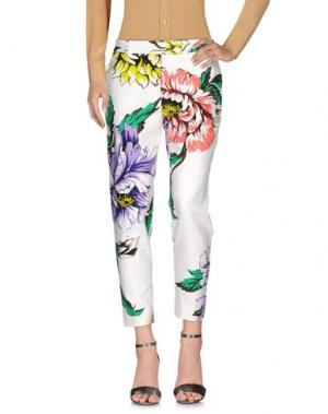 Повседневные брюки MARCO BOLOGNA. Цвет: белый