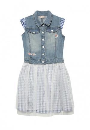 Платье джинсовое Brums. Цвет: голубой