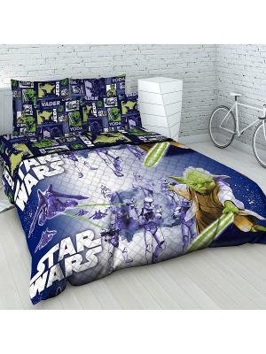 Покрывало Звездные войны Василек. Цвет: синий