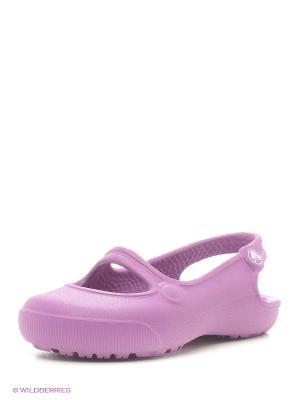 Балетки CROCS. Цвет: сиреневый, фиолетовый