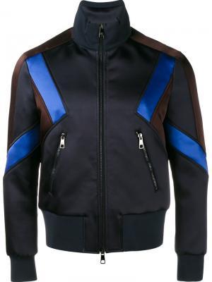 Спортивная куртка с панельным дизайном Neil Barrett. Цвет: синий