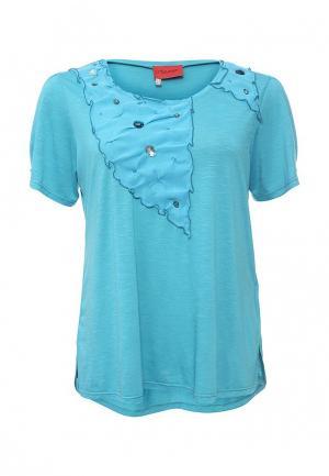 Блуза O`Queen. Цвет: бирюзовый