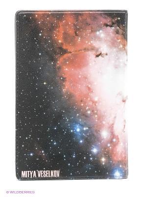 Визитница Космос Mitya Veselkov. Цвет: фиолетовый, белый, черный