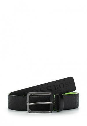 Ремень Boss Green. Цвет: черный