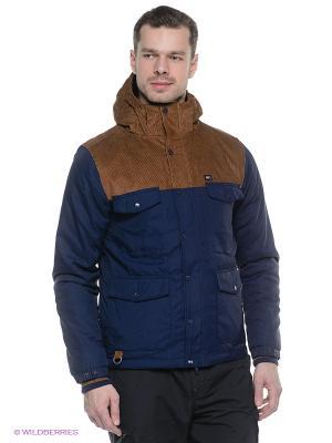 Куртка K1X. Цвет: синий, коричневый