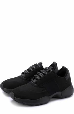 Текстильные кроссовки на шнуровке O.X.S.. Цвет: черный