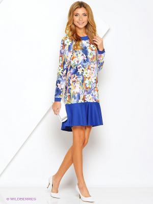 Платье Xarizmas. Цвет: синий, красный, желтый, белый