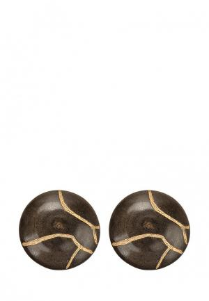 Клипсы Nature bijoux. Цвет: коричневый