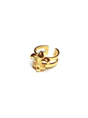 Fleur de lis, кольцо Amorem. Цвет: золотистый