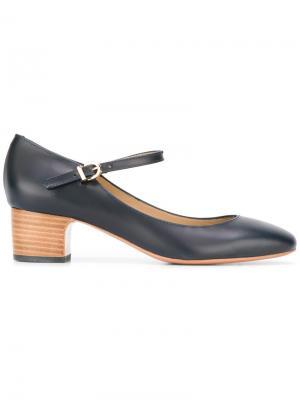 Туфли-лодочки с ремешком на щиколотку A.P.C.. Цвет: синий
