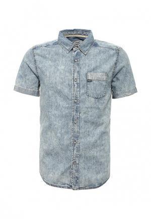 Рубашка джинсовая MeZaGuz. Цвет: голубой
