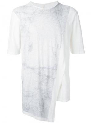 Асимметричная футболка Forme Dexpression D'expression. Цвет: белый