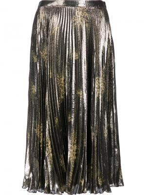 Плиссированная юбка Suno. Цвет: металлический
