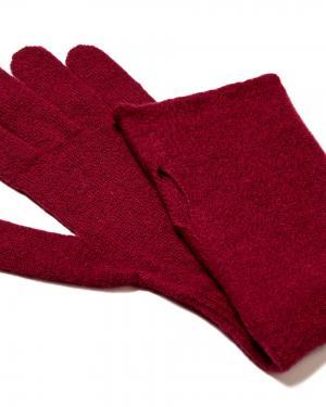 Перчатки Benetton. Цвет: красный
