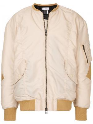Куртка-бомбер Facetasm. Цвет: телесный