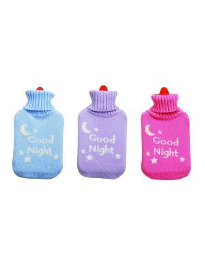 Набор из 3-х грелок Goodnight Excelsa. Цвет: голубой, фиолетовый, розовый