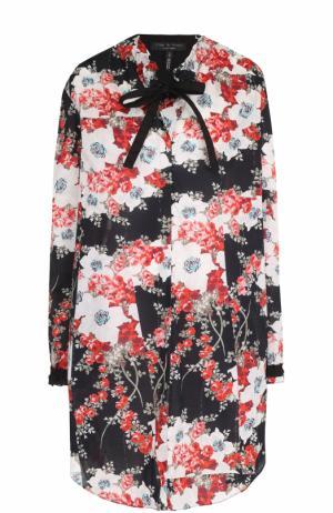 Мини-платье свободного кроя с цветочным принтом Rag&Bone. Цвет: разноцветный