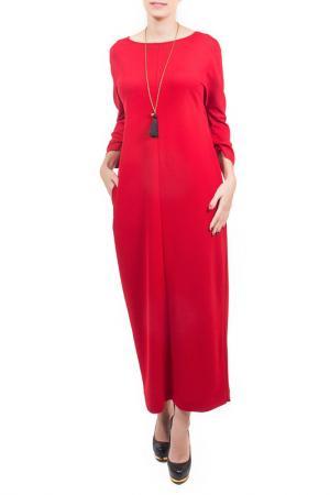 Платье, кулон Piena. Цвет: красный