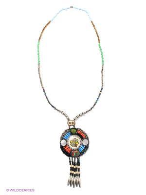 Ожерелье Infiniti. Цвет: бронзовый, голубой, зеленый, черный