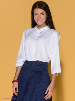 Блузка Say. Цвет: белый