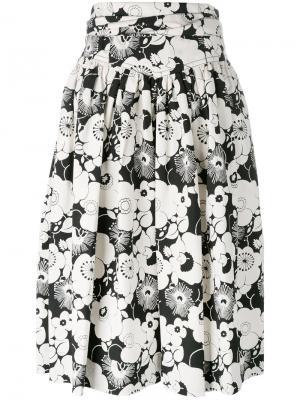 Юбка с цветочным узором Marc Jacobs. Цвет: белый