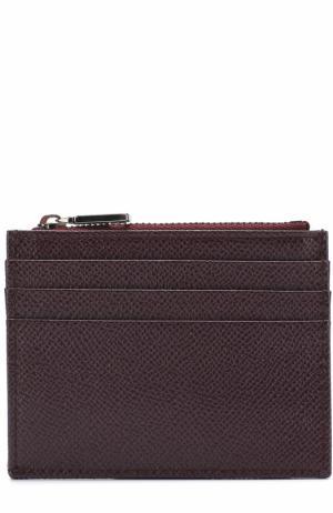 Кожаный футляр для кредитных карт с отделением монет Dolce & Gabbana. Цвет: бордовый