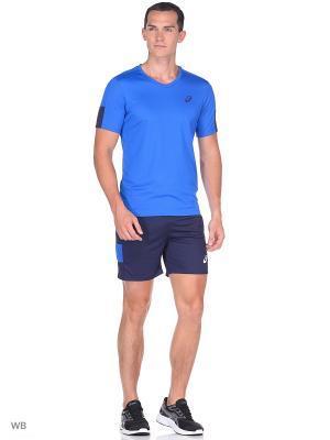 Шорты Short ASICS. Цвет: синий, голубой