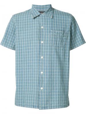 Джинсовая рубашка в клетку Rrl. Цвет: синий