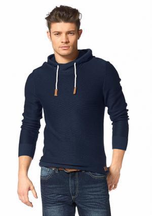 Пуловер JOHN DEVIN. Цвет: дымчато-синий, светло-серый меланжевый
