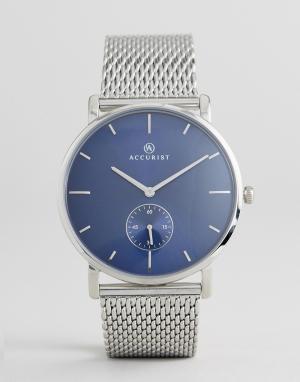 Accurist Серебристые часы с сетчатым ремешком 7126. Цвет: серебряный