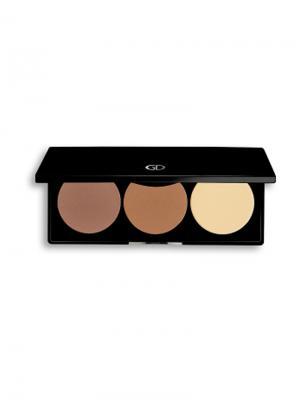 Набор для контурирования лица BASICS GA-DE. Цвет: серо-коричневый, светло-коричневый, кремовый