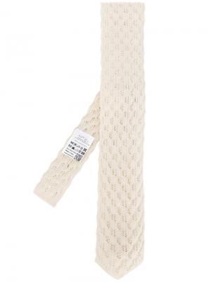 Трикотажный галстук Gabriele Pasini. Цвет: телесный