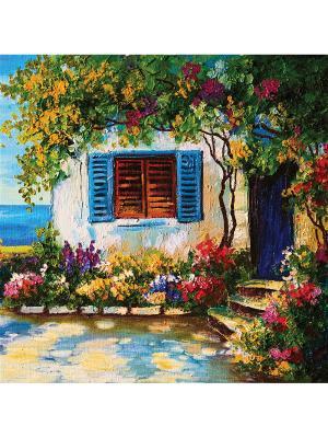 Art Холст Средиземноморье  25х25 см DECORETTO. Цвет: белый, синий, зеленый, голубой, фиолетовый