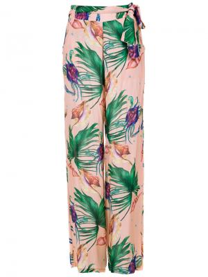 Printed wide leg trousers Brigitte. Цвет: розовый и фиолетовый
